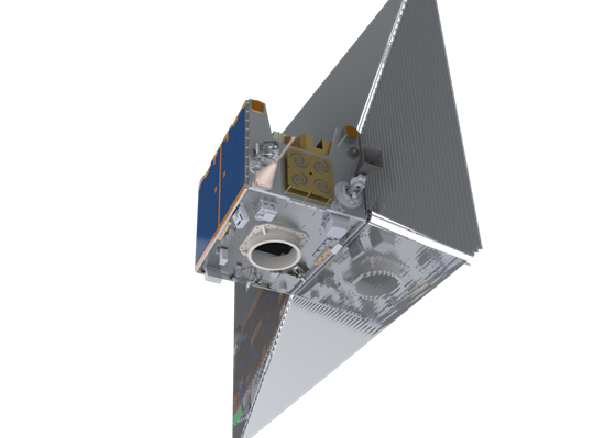 TechDemoSat-1 with de-orbit sail deployed