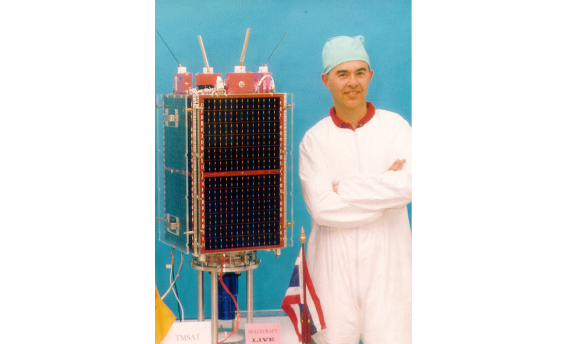 First microsatellite to take multispectral Earth images, TMSat (1998)