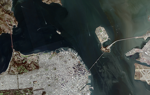 New sub 1 metre San Francisco image acquired by SSTL S1-4