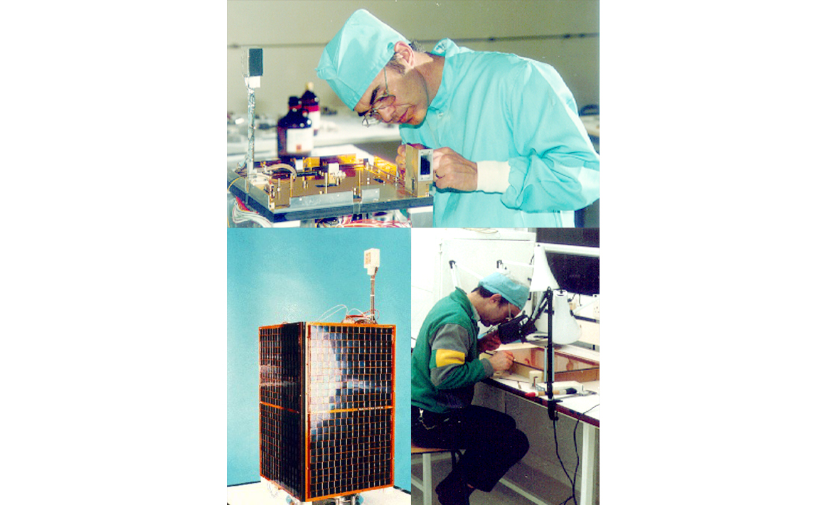 First modular 50kg microsatellite design, now widely emulated, UoSAT-3 and UoSAT-4 (1990)
