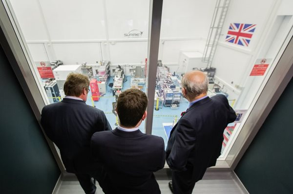 Business Secretary Vince Cable views SSTL cleanrooms
