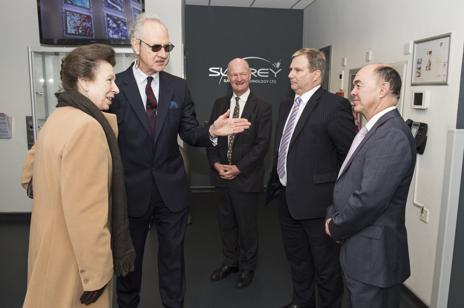 HRH Princess Anne visits Surrey Satellite Technology Ltd