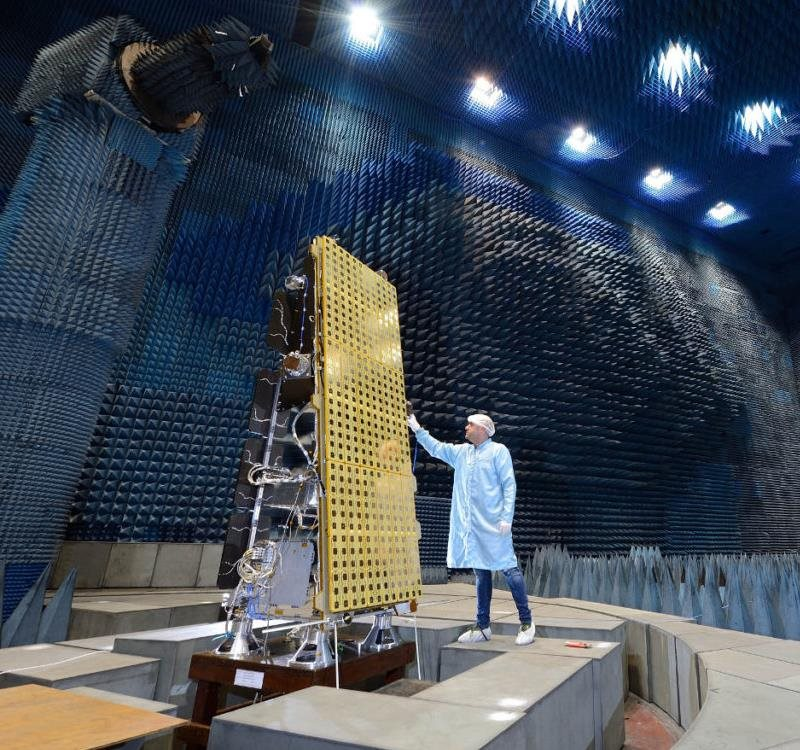 NovaSAR-1 on test at Airbus Defence & Space in Portsmouth, UK