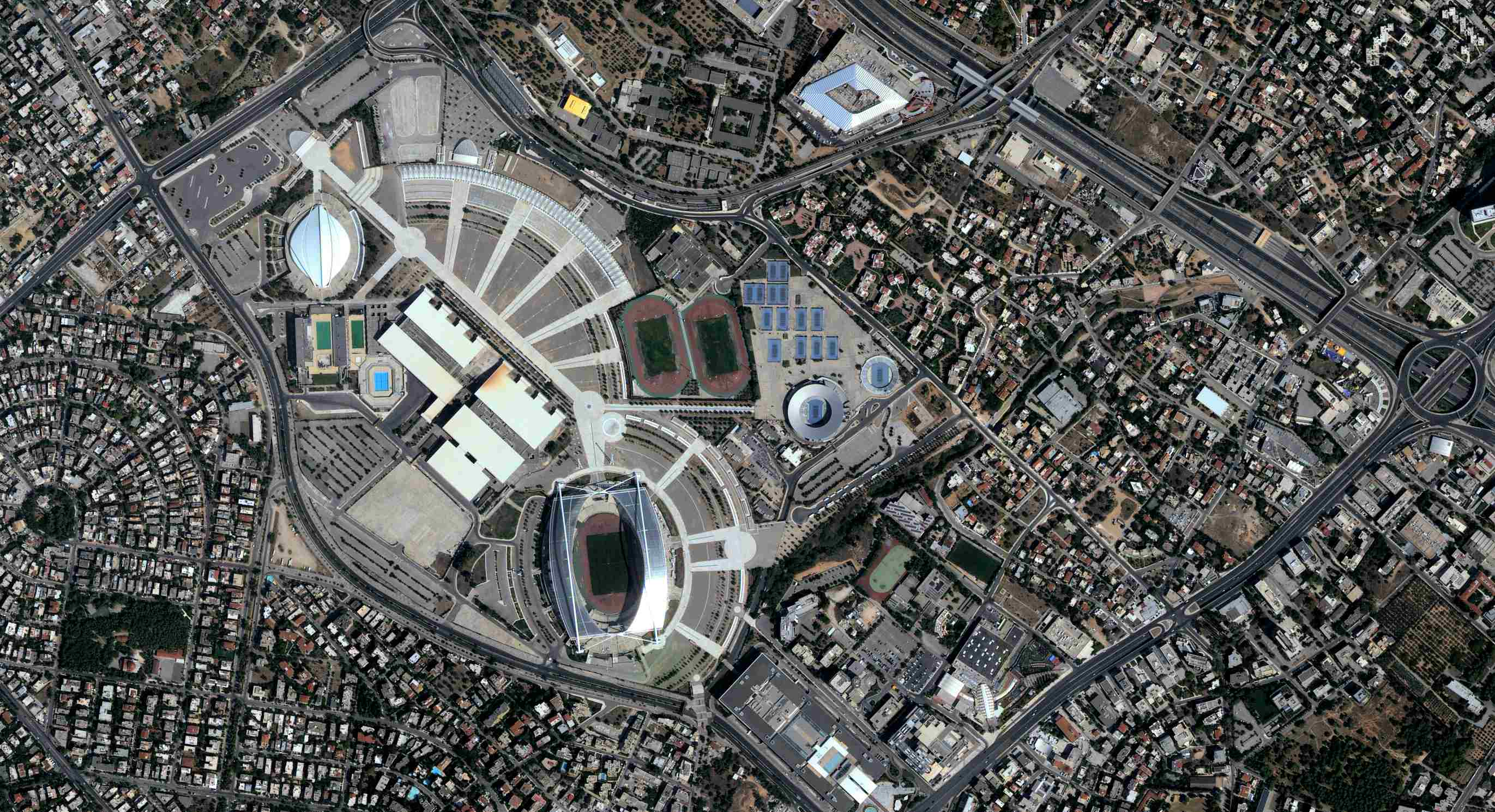 This 1m resolution pan-sharpened image taken on 2nd August 2015 shows the