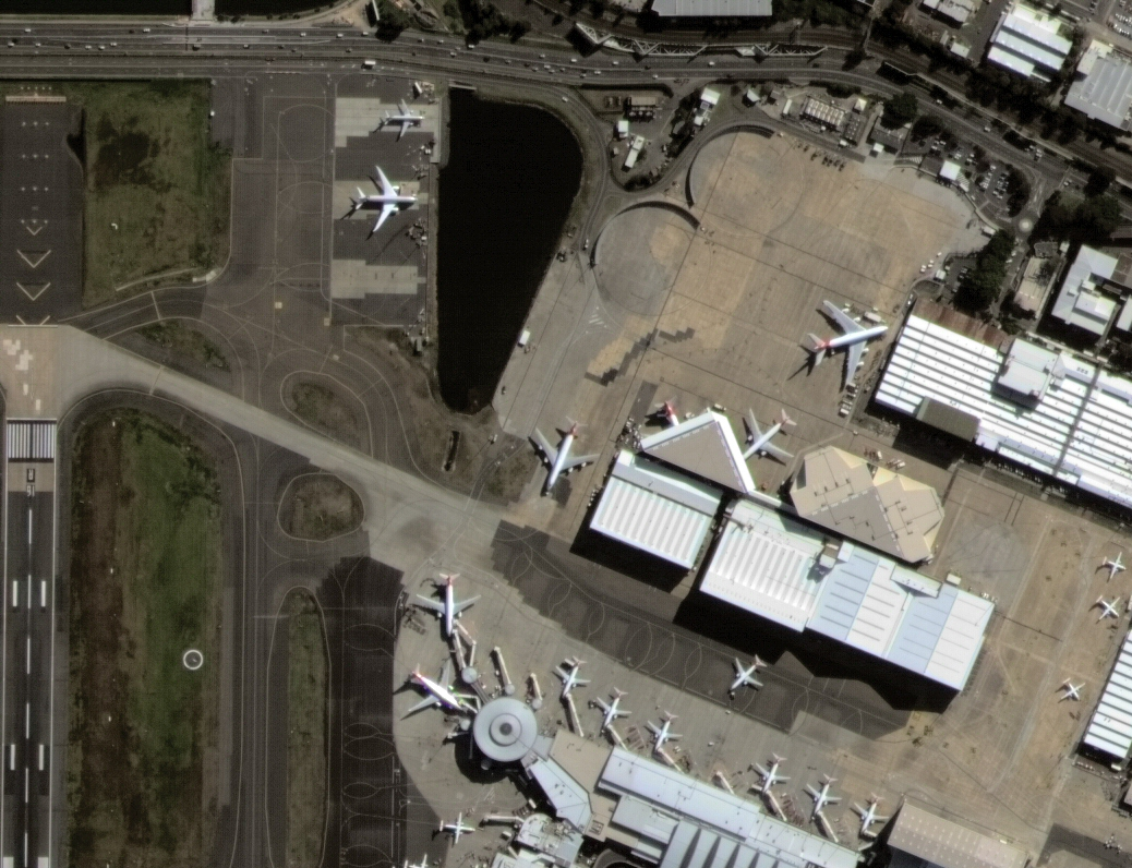 This 1m resolution pan-sharpened image taken on 31st July 2015 is an extract