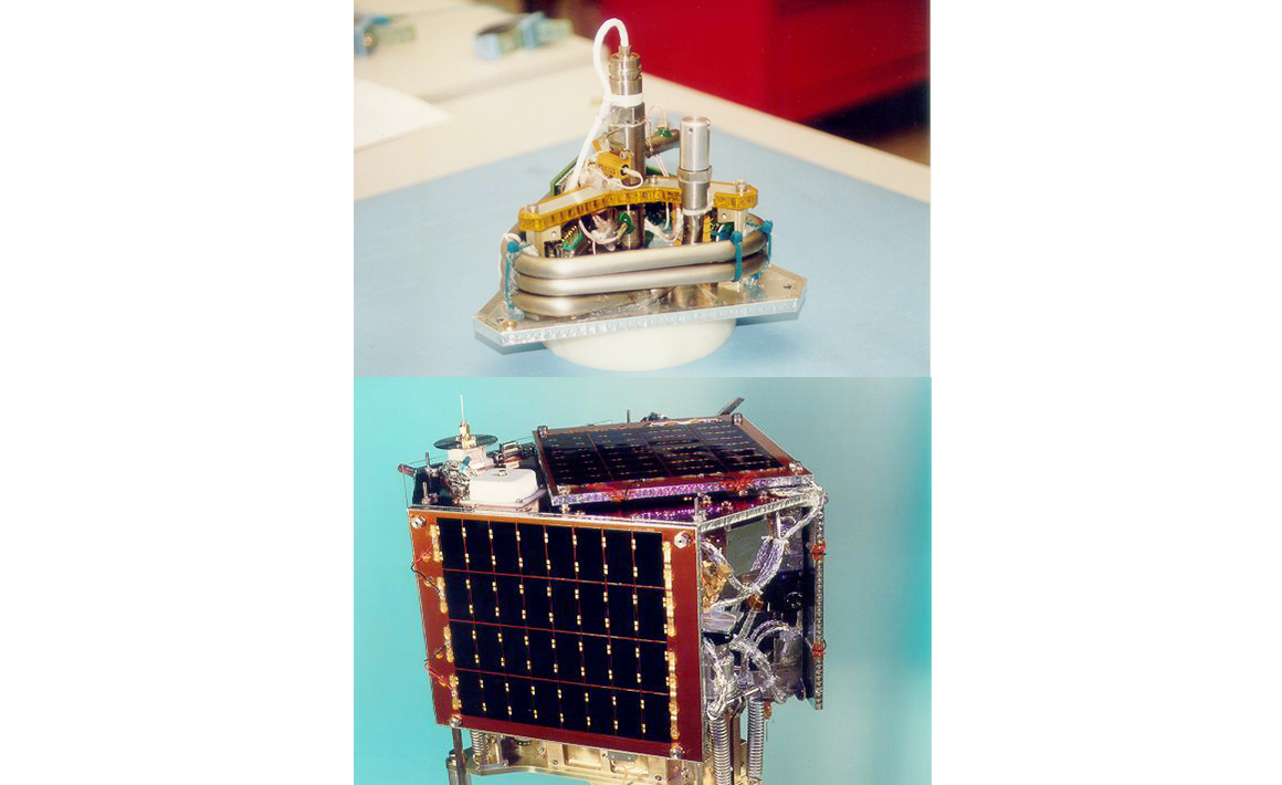 First use of propulsion on a nanosatellite, SNAP-1 (2000)