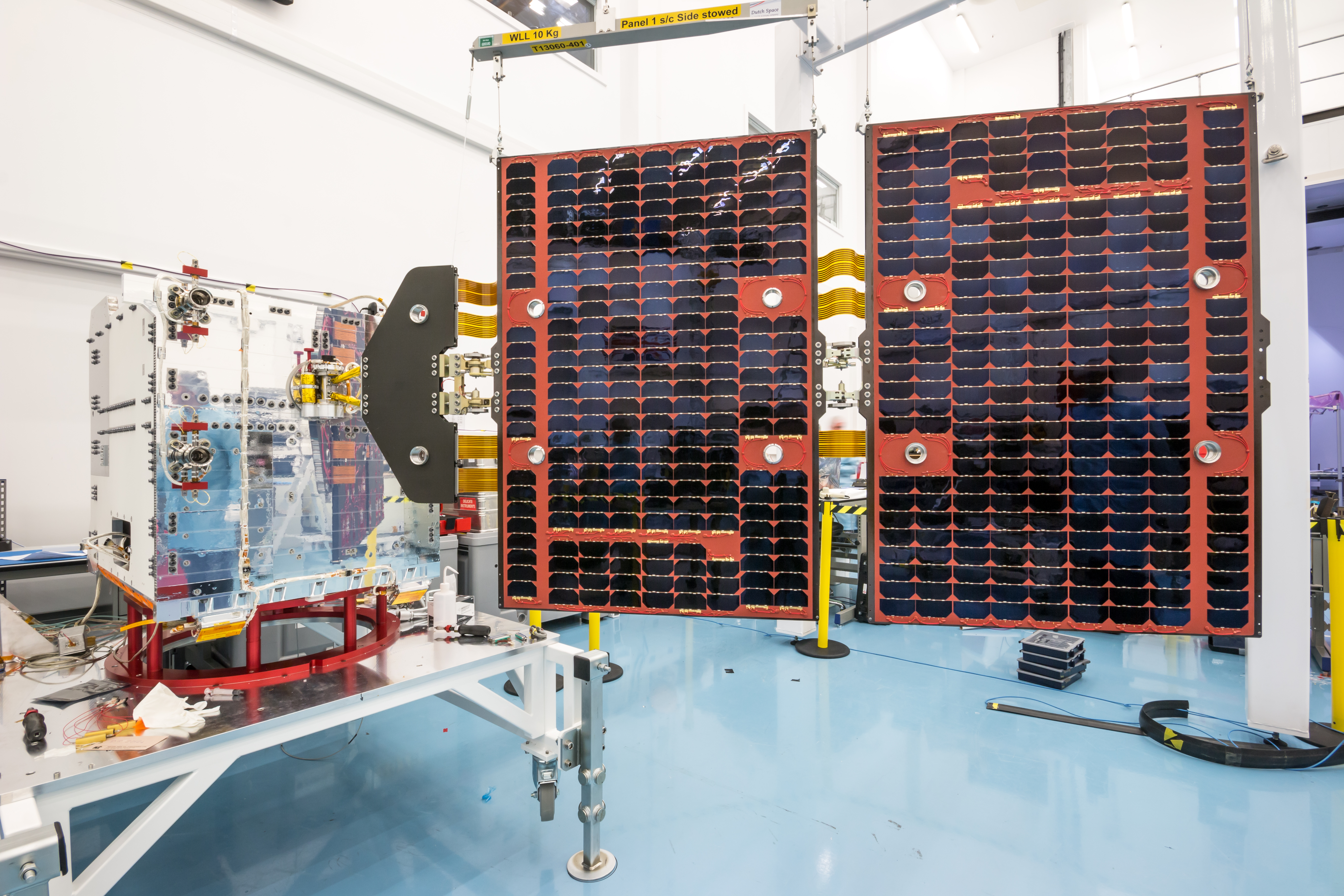 FORMOSAT-7 satellite in build at SSTL. Credit SSTL.