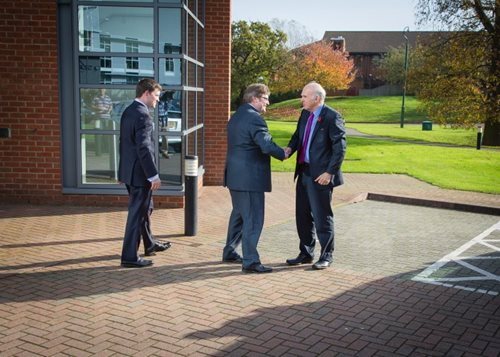 Business Secretary Vince Cable visits SSTL