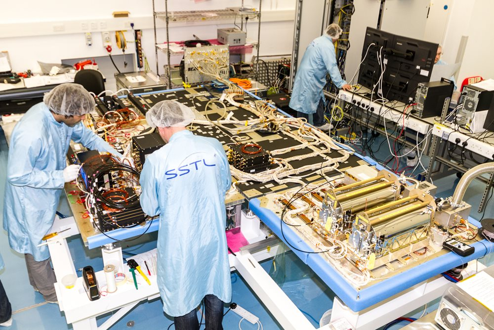 Galileo FOC payload under manufacture at SSTL