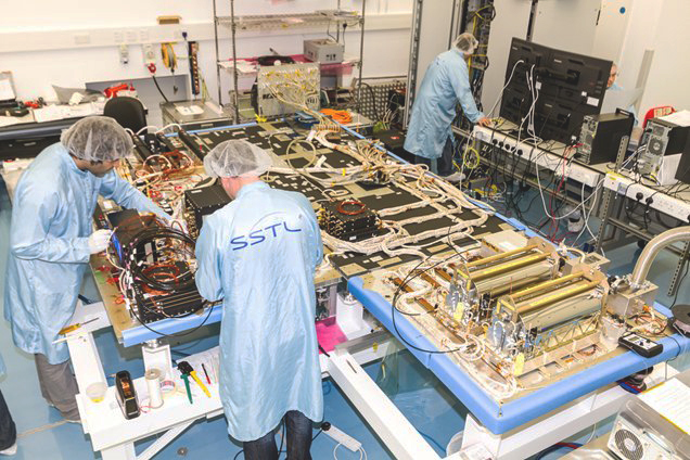 Assembly of Galileo FOC FM1 payload