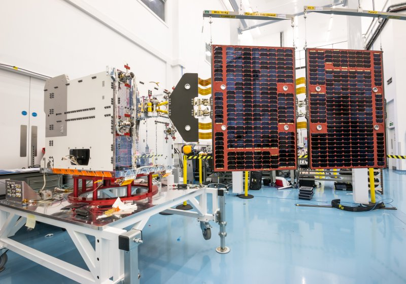 FORMOSAT-7 spacecraft during final assembly at SST