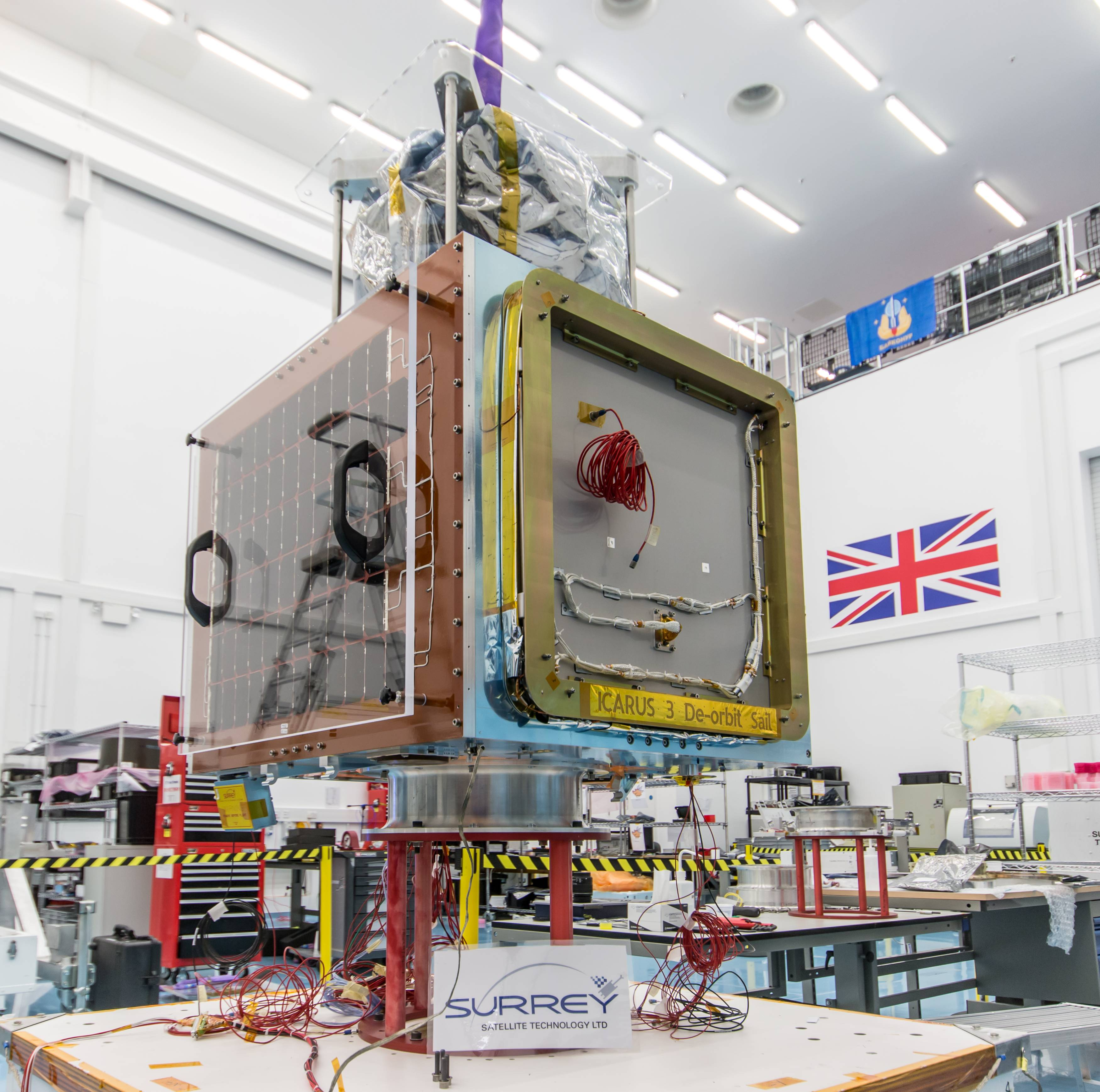 CARBONITE-1 in build at SSTL, 2015 © SSTL