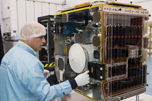 SSTL ships RemoveDEBRIS mission for ISS launch