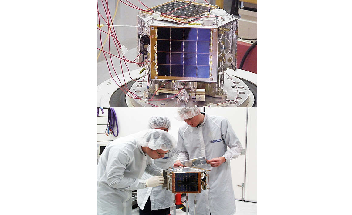 The first successful use of GPS on board a nanosatellite for orbit manoeuvring, SNAP-1 (2000)